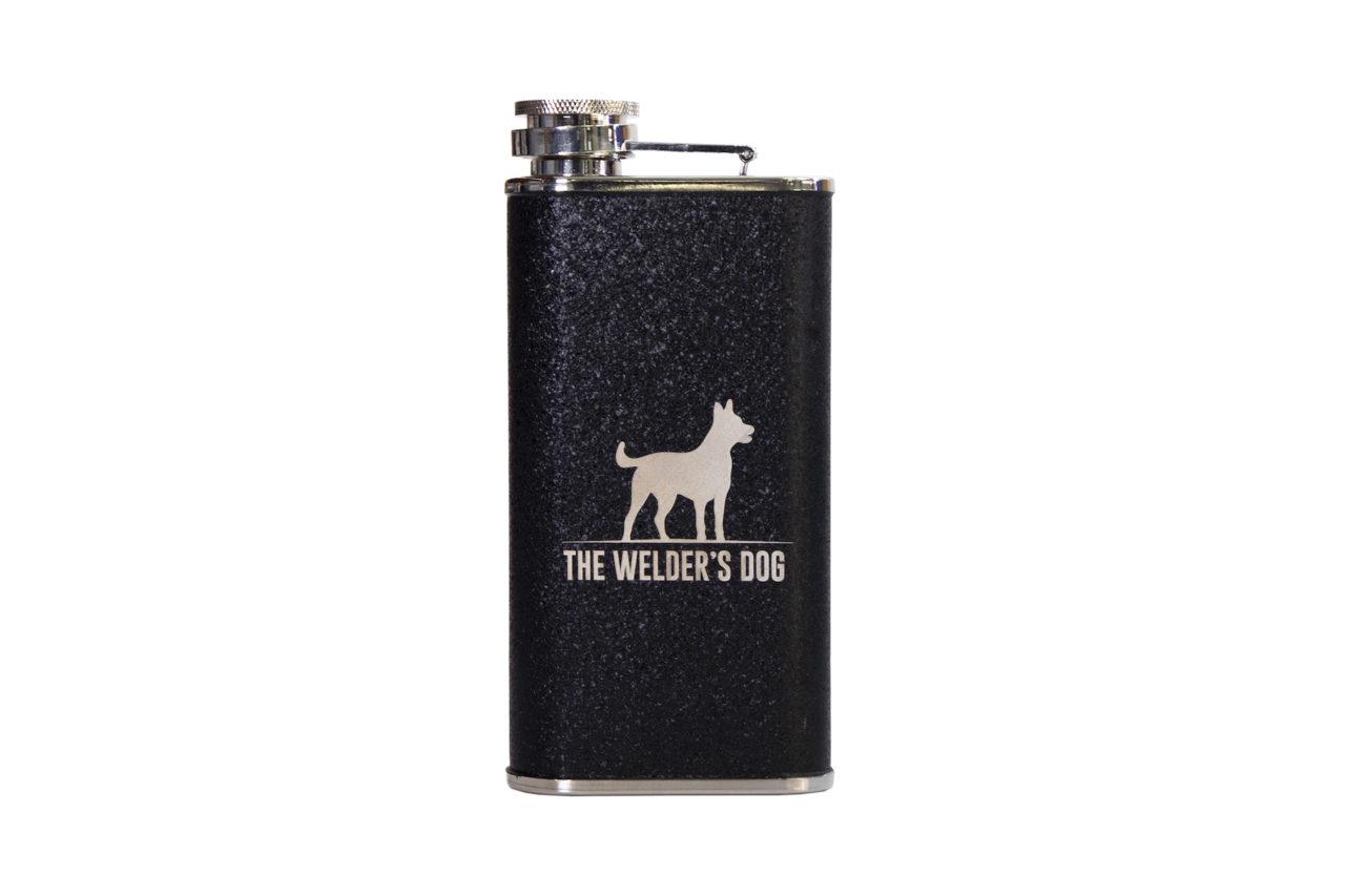 Welder's Dog Hip Flask