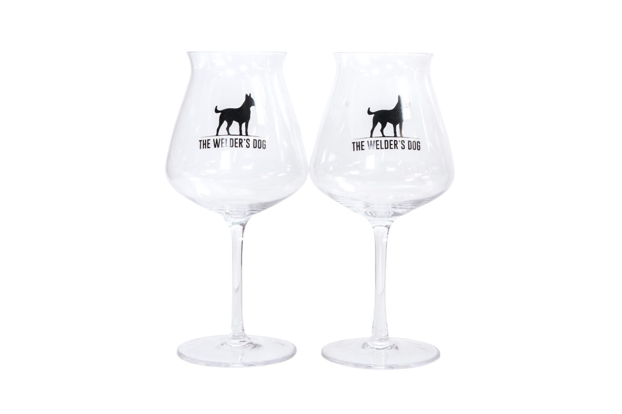 Welder's Dog Glass Set